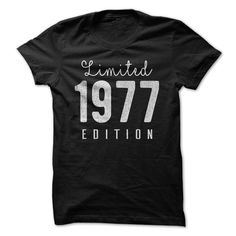 1977 Limited Edition B-day 40th Birthday T-Shirt Tee by TeeSpaceX