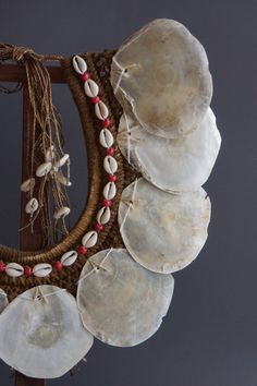 Handcrafted Papua Necklace made with Seashell by bonesandskull