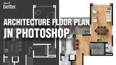 Architecture Floor Plan in Photoshop
