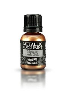 Readytouse Metallic Dark Gold 100 Edible Food Paint for Cake and Icing Decoration *** For more information, visit image link.(This is an Amazon affiliate link and I receive a commission for the sales)