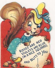 vintage Valentine squirrel