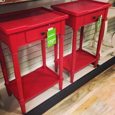 Lovely Red End Tables.