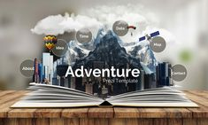 3D adventure flipbook urban city concept education prezi next presentation template