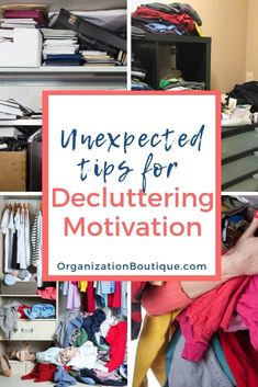 Decluttering motivation tips to help declutter your home. Ideas to motivate you to declutter even when you're feeling overwhelmed. Includes free decluttering quotes for inspiration. Deep Cleaning Tips, Cleaning Hacks, Emotional Clutter, Declutter Your Life, Declutter Bedroom, Clutter Free Home, Living At Home, Feeling Overwhelmed, Organization Hacks