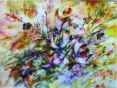 Artwork >> Jean Jourdan >> #Summer #flowering #masterpiece, #artwork, #art, #extraordinary, #painting, #beautiful