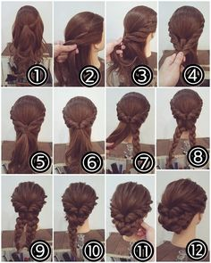 Best Ideas Wedding Hairstyles Updo Tutorial Half Up Up Hairstyles, Pretty Hairstyles, Wedding Hairstyles, Princess Hairstyles, Step By Step Hairstyles, Creative Hairstyles, Elegant Updo, Prom Hair Updo Elegant, Braided Updo