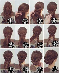Hair braid bun