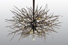 could make with twigs and mini lights and add acorns and pinecones to mix