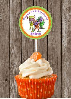 Floogals Birthday Cupcake Toppers Printable by HeartlandDesignCo