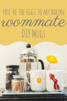 Back-to-School Dorm DIY:  Eggs and Bacon Coffee Mugs | HGTV Design Blog – Design Happens