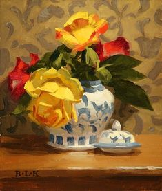 Laurie Kersey 1961 ~ Still Life painter Flower Vases, Flower Art, Bouquet, Still Life Art, Abstract Flowers, Pictures To Paint, Botanical Prints, Beautiful Paintings, Creative Art