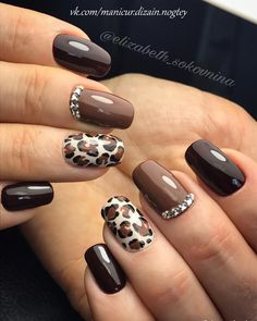 77 Trendy Brown Nail Art Designs and Ideas - Brown nail designs are big . - 77 Trendy Brown Nail Art Designs and Ideas – Brown nail designs are very diverse because they hav - Nail Art Design Gallery, Fall Nail Art Designs, Brown Nail Designs, Leopard Nail Designs, Best Nail Designs, Fall Designs, Brown Nail Art, Brown Nails, Brown Art