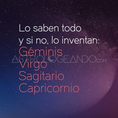 #Géminis #Virgo #Sagitario #Capricornio #Zodiaco #Astrologeando