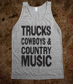 Trucks Cowboys And Country Music (Vintage Tank)
