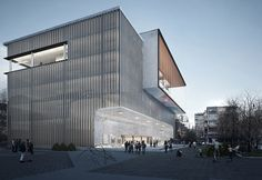 cưng architects proposes transparent structure for varna library comp.