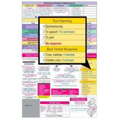 Pediatric Care I  Medical Pocket Chart Quick Reference Guide