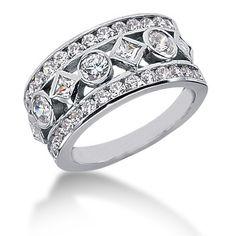 silver white diamonds