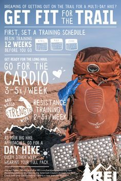 How to get fit for the Trail. Thru-Hiking: Training Tips and Exercises. Whether you're gaining elevation or out for a joyous weekend adventure with friends, training can help make any trip more enjoyable. Use these backpacking training tips, instructions and workout plan at Thru-Hiking. #HillTraining #TrailRunning #RunningOutdoors