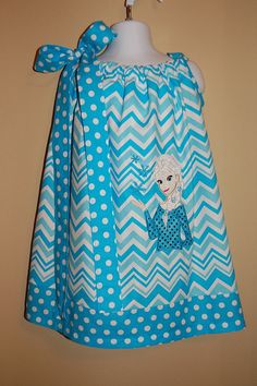 Cute Chevron Pillowcase dress with Elsa by Luddiebug on Etsy, $29.99