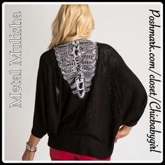 Metal Mulisha Sweaters - NEW✨COCOON BACK EMBROIDERY SKELETON SWEATER