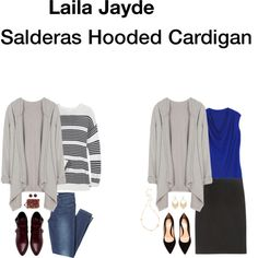 Jan 2015 - Laila Jayde hooded cardigan.  Have seen in gray and black.  Looks like a great multipurpose layering piece.  LOVE.