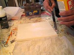 Texture with tissue paper - YouTube