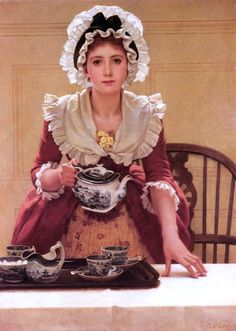 Tea (exhibited 1894) - George Dunlop Leslie