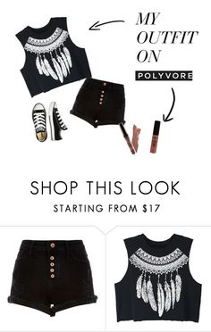 """""""Concert wear"""" by alonnajenelle on Polyvore featuring River Island, WithChic and Converse"""