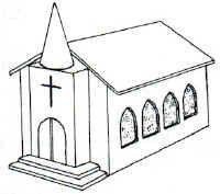 Gingerbread House Blueprint - Chapel