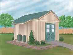 Raineri Yard And Garden Shed  from houseplansandmore.com