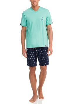 Vamp Ανδρική Νεανική Πυτζάμα Sail Green Mint – Tartora.gr Patterned Shorts, Trunks, Swimwear, Cotton, Men, Shopping, Style, Fashion, Drift Wood