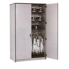 Fleetwood Harmony 2 Tier 1 Wide Instrument Storage Cabinet with Storage Shelf Locker Body/Trim: Grey Nebula/Black, Door Style/Color: Heavy Duty Ste...