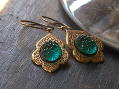 Sister Hazel Vintage emerald sugar glass and Victorian by Chymiera, $16.00