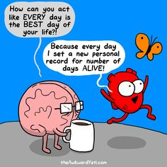 The Awkward Yeti by Nick Seluk for December 2015 - GoComics Akward Yeti, The Awkward Yeti, Funny Quotes, Funny Memes, Hilarious, Life Quotes, Jokes, Heart And Brain Comic, 4 Panel Life