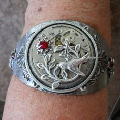 CLEARANCE Steampunk Victorian Garden Cuff by EnchantedLockets, $16.00