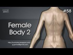 Zbrush Sculpting - Female body 2 - YouTube
