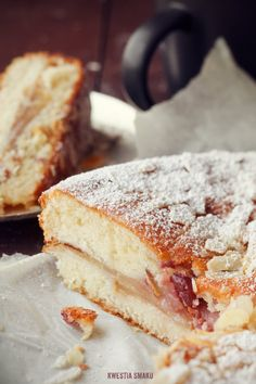 Yoghurt Cake with Cinnamon Pear & Cherries