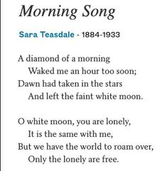 Morning Songs, Wake Me, Lonely, Poems, Lost, Journal, Search, Searching, Poetry