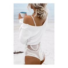 Yoins White Sexy V-neck Knitted Long Sleeves Jumper ($29) ❤ liked on Polyvore featuring tops, sweaters, white sweater, sexy jumper, white long sleeve top, v neck tops and long sleeve jumper