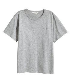 T-Shirt aus Jersey | Graumeliert | Damen | H&M AT