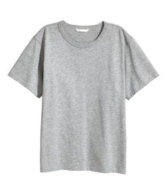 T-Shirt aus Jersey | Graumeliert | Damen | H&M AT