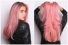 rosa pastel cabelo
