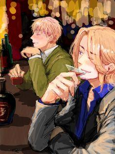 Arthur and Francis at the bar - Art by ゆご2525
