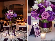 Purple reception wedding flowers wedding decor wedding flower centerpiece wedding flower arrangement add pic source on comment and we will update it. can create this beautiful wedding flower look. Purple Wedding, Floral Wedding, Wedding Colors, Our Wedding, Wedding Flowers, Dream Wedding, Wedding Flower Arrangements, Wedding Centerpieces, Floral Arrangements