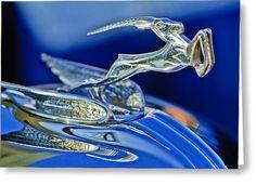 "1933 Chrysler Imperial ""Gazelle"" Hood Ornament by Jill Reger***Research for possible future project. Vintage Cars, Antique Cars, Dodge, Car Bonnet, Car Hood Ornaments, Radiator Cap, Chrysler Imperial, Car Badges, Automotive Art"