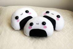 KAWAII ONIGIRI PLUSH - Super cute Kawaii Onigiri Plush Toy.  via Etsy.