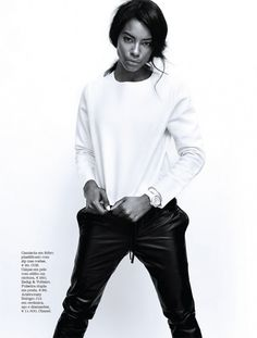 Sharam Diniz Is Sporty and Chic In Elle Portugal Magazine's October 2014 Issue