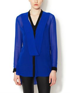 Silk Colorblocked Tunic by Robert Rodriguez at Gilt