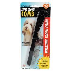 Untangler Super-Groom Comb - http://www.thepuppy.org/untangler-super-groom-comb/