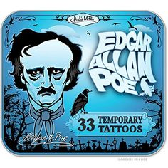 Edgar Allen Poe Temporary Tattoos by Archie McPhee ** Continue to the product at the image link. Note:It is Affiliate Link to Amazon.